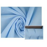 China 100% Polyester Soft Light Blue Chiffon Fabric Breathable For Summer Dress / Pants on sale
