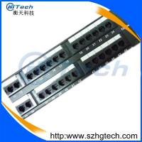 Quality 48 Port Cat6 UTP Patch Panel 8P8C Black Color in Network System for sale