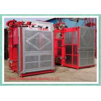 Stable Performance Rack And Pinion Elevator Double Cabin For Man Material Lifting