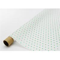 China Fade Resistant Hot Stamping Tissue Paper 17gsm Green Dot For Bouquet on sale