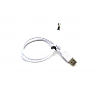 Quality UL2725 28AWG White USB 2.0 A Male 4P Cable With Heat Shrinkable Tube for sale