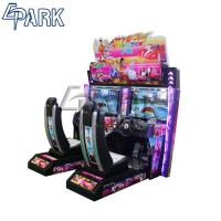 Quality Conjoined Racing Game Machine With Plastic Material Alloy Steel Structure for sale