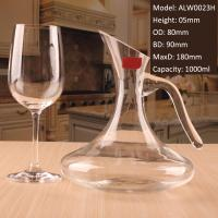Quality Lead Free Crystal Modern Novelty Decanter with Perfect Pure Spout for sale