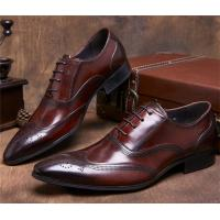 Quality Almond Wingtips Toe Classic Dress Shoes Formal Occasions With Carved Patterns for sale
