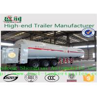 Quality Light  Weight Steel  LNG Semi Trailer With 3 FUWA Axles  and ABS for sale