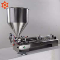 Quality Steel Semi Automatic Filling Machine For Soda Sachet Coconut Mineral Water for sale