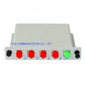 Quality ISO 1×4 FC UPC Fiber PLC Splitter Cassette DWDM CWDM Fiber Splitter Box for sale