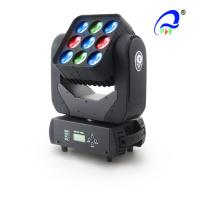 China 9pcs 3*3 RGBW 4 in 1 LED Matrix Beam Moving Head Light 10W beam light for stage on sale