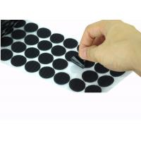 Quality Die Cut Back Adhesive Hook And Loop Dots 100mm  Coins Bulk for sale