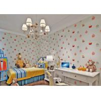 China White Embossed Nonwoven Fireproof  Kids Bedroom Wallpaper Cake Pattern wholesale