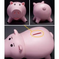 China PVC Model Toys Kids Piggy Banks Pink Coin Money Box Eco Friendly Vinyl Material on sale