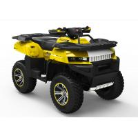 Quality Kandi Yellow 700CC Utility EEC ATV With One Seat And Double Swing Arm for sale