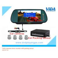 Quality 7inch bluetooth lcd car vehicle rear view rearview mirror monitor parking sensor for sale
