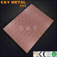 China CY-111# Hot sale embossed sheet,free sample with red-copper on sale