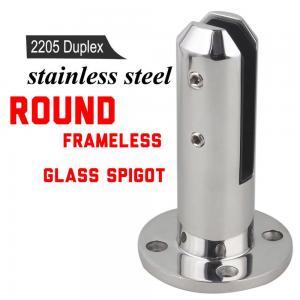 Quality Mirror Polished 2205 Glass Railing / Balustrade / Pool Fence Spigot for sale