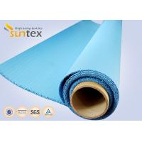 China Blue Silicone Coated Fiberglass Fabric Cloth For Insulation Pads Steam Pipe Insulation Material on sale