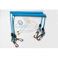 Buy Sky Blue Stopdrop Plastic Coil Lanyard 18CM With Zinc Alloy Hooks at wholesale prices