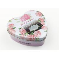 Quality Flower Design Heart Shaped Tin Box For Party Wedding Gift Packing for sale