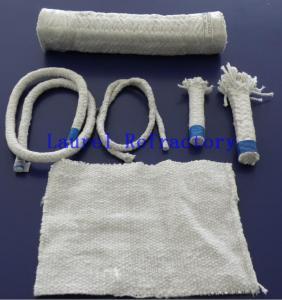 China Boiler Insulation Ceramic Fiber Refractory Textiles Oil / Water Vapor Resistent on sale