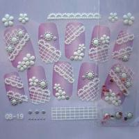 Quality 3-D Nail Stickers, Available in Various Colors and Designs for sale