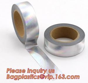 China foil washi tape holographic foil washi tape,Gold Laser Decorative Reflective Customized Washi Tape,Decorative Adhesive T on sale