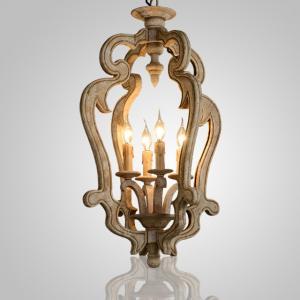 Quality Dark wood farmhouse wood chandelier (WH-CI-12) for sale