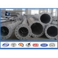Quality 66KV Galvanized Electrical Transmission Steel Utility Poles With Zinc Coating for sale