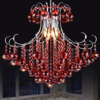 Quality Coloured metal crystal chandelier for indoor home lighting (WH-MI-67) for sale