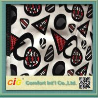 Quality Funiture Print PU Synthetic Leather Fabric 0.8mm Flocking Design for sale