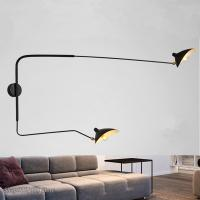Quality Nordic DaWn Spider Serge Mouille Wall Lights Rotary Long Pole Swing Arm Wall Lamps (WH-VR-03) for sale