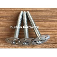 Galvanized Steel Rock Wool Insulation Anchor pins With 35mm Round Washer Base
