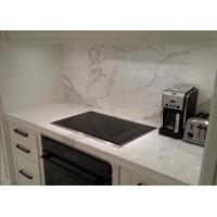 Quality White Kitchen Marble Countertops And Backsplash , Huge Marble Tile Countertops for sale