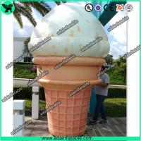 Quality 3m Woderful Decorative Inflatable Model , PVC Inflatable Ice Cream Cone for sale