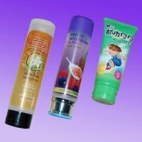 cheap plastic cosmetic tube with flip cap and silk printing for facial cream