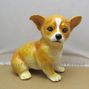 China Custom decorative resin dog figurine on sale