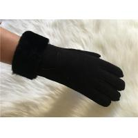 China men's premium sheepskin Crafted wool lining gloves lambskin leather gloves on sale