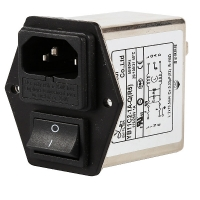 Quality IEC Inlet Socket 10A Electric Emi Rfi Power Line Filter With Double Fuse for sale