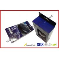 Rectangle Power Bank Portable Card Board Packaging Boxes , Promotional Mouse Accessoires Boxes