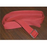Quality Colored Heavy Duty Webbing Strap , Polyester Sew On Hook And Loop Strap With Stainless Steel Buckle for sale