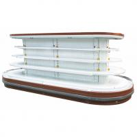 Quality Supermarket Island Commercial Open Display Refrigerator With Rounded Ends for sale