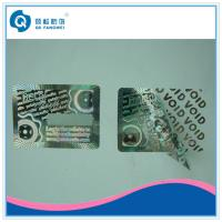 Quality Warranty Custom Hologram Stickers , Tamper Evident Holographic Warranty VOID If Removed Labels for sale