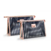 China Black Stripes Portable Washing Bag , Waterproof Transparent Makeup Bag on sale