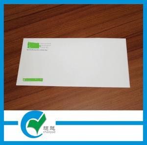 Quality 230g Custom Envelope Printing , Self Adhesive Seal White Kraft Paper Envelope for sale