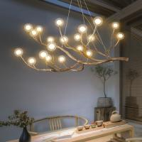 Buy cheap Living room Bedroom Wooden Tree Branch decorative lustre pendant home Chandelier from wholesalers