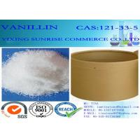 Quality C8H8O3 Chemical Food Additives Slightly Yellow Vanillin Crystals CAS 121-33-5 for sale