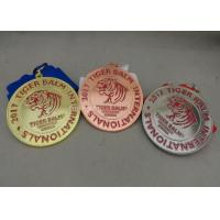 China Die Stamped Martial Arts Ribbon Souvenir Medal Brass Material Enamel For Awards on sale