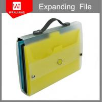 Buy office supplies A4 plastic document holder PP expanding file folder with handle at wholesale prices