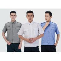 Quality Durable Security Guard Uniform , Mens Security Uniform Shirts With Two Pockets for sale