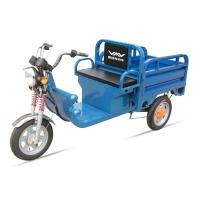 Quality 580W 48V / 32Ah Adult Electric Tricycles Blue Electric Cargo Tricycle Easily Loading for sale