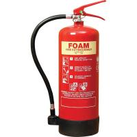 Quality 6 Litre Foam Fire Extinguisher Inner Painting PVC Rubber Nozzle For Computer Room for sale
